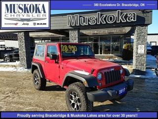 Used 2017 Jeep Wrangler JK Sport for sale in Bracebridge, ON