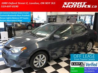 Used 2014 Toyota Corolla LE+Camera+Heated Seats+Bluetooth+Rust Proofed for sale in London, ON