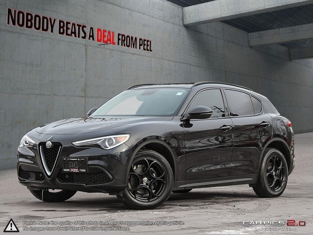 Used 2018 Alfa Romeo Stelvio Sport Q4 Nero Edizione Blind Spot Dark