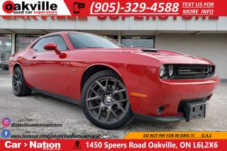 Used 2016 Dodge Challenger R/T | NAV | B/U CAM | RED LEATHER | HTD VNTD SEATS for sale in Oakville, ON