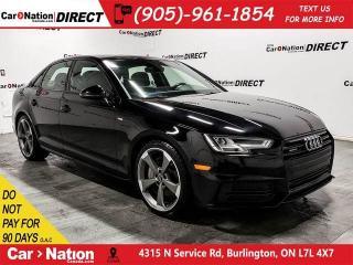 Used 2018 Audi A4 2.0T Progressiv quattro| S-LINE| NAVI| SUNROOF| for sale in Burlington, ON