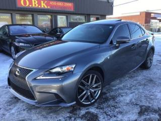 Used 2014 Lexus IS 250 F Sport 3-Navigation for sale in Laval, QC
