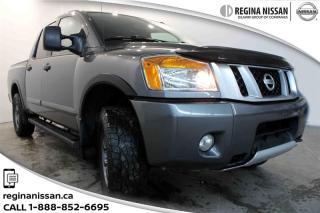 Used 2013 Nissan Titan Crew Cab PRO-4X 4X4 SWB LOCAL TRUCK - GREAT SHAPE! for sale in Regina, SK