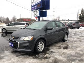 Used 2017 Chevrolet Sonic LT Auto back up camera, touch screen for sale in Brantford, ON