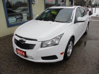Used 2014 Chevrolet Cruze LOADED 2-LT MODEL 5 PASSENGER 1.4L - TURBO.. LEATHER.. HEATED SEATS.. POWER SUNROOF.. BACK-UP CAMERA.. BLUETOOTH.. for sale in Bradford, ON