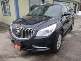 Used 2015 Buick Enclave LOADED ALL-WHEEL DRIVE 7 PASSENGER 3.6L - V6.. CAPTAINS.. 3RD ROW.. LEATHER.. HEATED SEATS.. BOSE AUDIO.. NAVIGATION.. POWER SUNROOF.. for sale in Bradford, ON