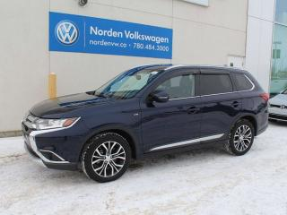 Used 2017 Mitsubishi Outlander GT 4WC - LEATHER / HEATED WHEEL / SUNROOF / NAVI for sale in Edmonton, AB