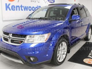 Used 2015 Dodge Journey RT AWD, NAV, sunroof, heated power leather seats, heated steering wheel, rear DVD entertainment and rear climate control for sale in Edmonton, AB