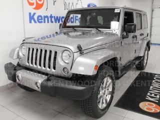 Used 2016 Jeep Wrangler Unlimited Sahara trail rated 4WD, NAV, heated front seats for sale in Edmonton, AB