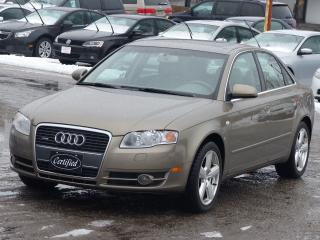 Used 2007 Audi A4 2.0T,AWD,QUATTRO,ALL 4 HEATD SEATS,SUNROOF,LOW KM, for sale in Mississauga, ON