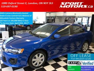 Used 2017 Mitsubishi Lancer ES 4WD+Camera+Bluetooth+Heated Seats for sale in London, ON