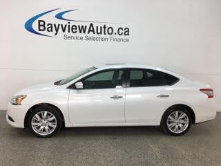 Used 2015 Nissan Sentra 1.8 SL - HTD LTHR! SUNROOF! PUSH START! REVERSE CAM! ALLOYS! for sale in Belleville, ON