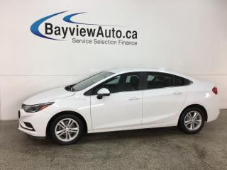 Used 2017 Chevrolet Cruze LT Auto - ONSTAR! REVERSE CAM! BLUETOOTH! HTD SEATS! ALLOYS! for sale in Belleville, ON