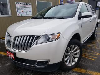 Used 2014 Lincoln MKX AWD-NAVIGATION-PAN ROOF-HEATED LEATHER-BLUETOOTH for sale in Tilbury, ON