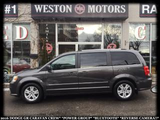 Used 2016 Dodge Grand Caravan CREW*PWR GRP*BLUETOOTH*REVERSE CAMERA!!* for sale in Toronto, ON