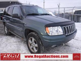 Used 2003 Jeep Grand Cherokee Overland 4D Utility 4WD for sale in Calgary, AB