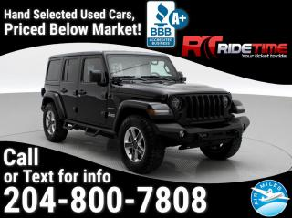 Used 2018 Jeep Wrangler Unlimited Sahara for sale in Winnipeg, MB