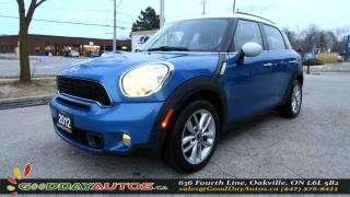 Used 2012 MINI Cooper Countryman S|LEATHER SEATS|SUNROOF|ALLOYS|PUSHSTART|CERTIFIED for sale in Oakville, ON