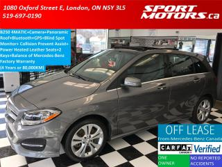 Used 2015 Mercedes-Benz B-Class B250 4MATIC+GPS+Camera+Panoramic Roof+Blind Spot for sale in London, ON