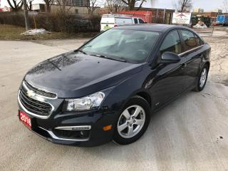 Used 2016 Chevrolet Cruze RS SUNROOF - ALLOY RIMS -REV CAM for sale in Brampton, ON