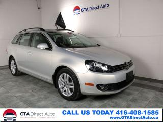 Used 2011 Volkswagen Golf Wagon HIGHLINE TDI Nav PanoRoof Leather Heated Certified for sale in Toronto, ON