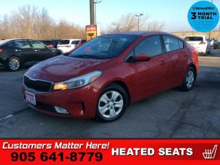 Used 2017 Kia Forte LX  LX+ HTD-SEATS S/W-CRUISE FOG-LIGHTS UPGRADED-AUDIO for sale in St. Catharines, ON