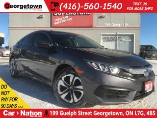 Used 2018 Honda Civic LX | ONE OWNER | 6 SPEED | BACK UP CAM for sale in Georgetown, ON