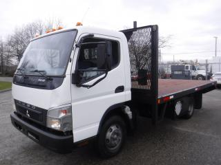Used 2010 Mitsubishi FUSO FE84D 16 Foot Flat Deck Diesel for sale in Burnaby, BC