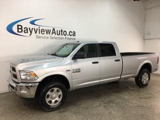Used 2018 RAM 2500 SLT - HITCH! TOW/HAUL! A/C! CRUISE! PWR GROUP! for sale in Belleville, ON