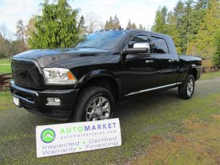 Used 2018 RAM 3500 LIMITED MEGACAB, LIKE NEW, LOADED for sale in Surrey, BC
