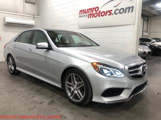 Used 2016 Mercedes-Benz E-Class 400 11K KMS Avantgarde AMG 4-Matic BLIS Pano for sale in St. George Brant, ON