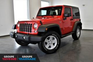 Used 2017 Jeep Wrangler SPORT 4X4 CLIMATISEUR + RAPPORT 3.73 + T for sale in St-Jean-Sur-Richelieu, QC