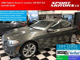 Used 2014 BMW 5 Series 528i xDrive+360 Camera+GPS+Sunroof+Heated Leather for sale in London, ON
