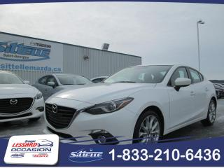 Used 2016 Mazda MAZDA3 GT AUTOM. 2.5L CUIR/TOIT/NAVI!!! for sale in St-Georges, QC