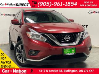 Used 2017 Nissan Murano SV| AWD| LOCAL TRADE| PANO ROOF| NAVI| for sale in Burlington, ON