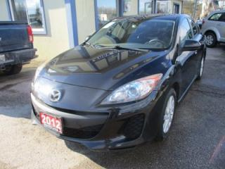 Used 2012 Mazda MAZDA3 6-SPEED MANUAL TOURING MODEL 5 PASSENGER 2.0L - DOHC.. SKYACTIV TECHNOLOGY.. HEATED SEATS.. POWER SUNROOF.. CD/AUX INPUT.. for sale in Bradford, ON