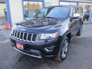 Used 2015 Jeep Grand Cherokee LOADED LIMITED EDITION 5 PASSENGER 3.6L - V6.. 4X4.. LEATHER.. HEATED SEATS.. NAVIGATION.. SUNROOF.. BACK-UP CAMERA.. ECO-MODE PACKAGE.. for sale in Bradford, ON