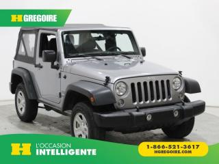 Used 2017 Jeep Wrangler SPORT AWD A/C MAGS for sale in St-Léonard, QC
