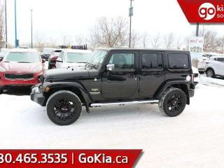 Used 2015 Jeep Wrangler Unlimited SAHARA; NAV, HEATED SEATS, LEATHER, CRUISE CONTROL, A/C AND MORE for sale in Edmonton, AB