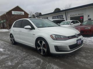 Used 2016 Volkswagen GTI AUTOBAHN 6M 4-DOOR for sale in Waterdown, ON