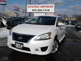 Used 2014 Nissan Sentra SR Prl White Premium/Navigation/Sunroof/Camera for sale in Mississauga, ON