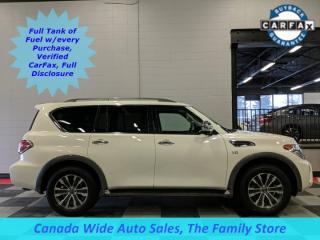 Used 2018 Nissan Armada 4X4,SL,Navigation, Sunroof, 3rd Row Seating, Heated Seats, Remote Start for sale in Edmonton, AB