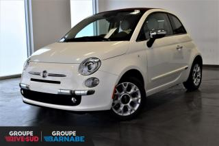 Used 2016 Fiat 500 C CONVERTIBLE + CUIR CHAUFFANT + BEATS AUD for sale in St-Jean-Sur-Richelieu, QC