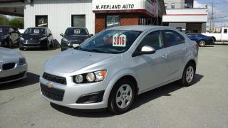 Used 2016 Chevrolet Sonic Ls ,a/c,bluetooth for sale in Sherbrooke, QC