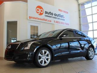 Used 2014 Cadillac ATS LUXURY Black on Black with Leather, Sunroof, AWD Alloy Wheels Navigation for sale in Red Deer, AB