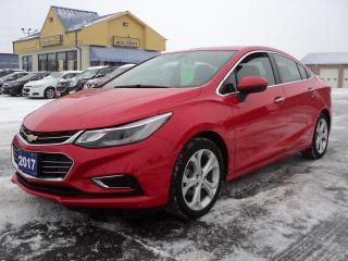 Used 2017 Chevrolet Cruze Premier 1.4L RemoteStart HeatedSeats BackUpCamera for sale in Brantford, ON