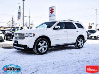 Used 2012 Dodge Durango Citadel AWD ~HEMI ~7 Passenger ~Nav ~DVD ~Leather for sale in Barrie, ON