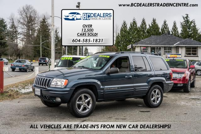 2002 Jeep Grand Cherokee Limited, 4x4, Leather Heated Seats, Sunroof!