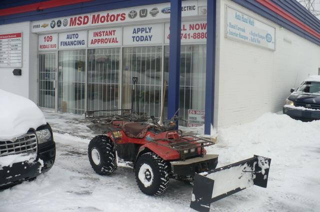 1988 Suzuki LT-R450 LT-250 QUAD RUNNER WITH SNOW PLOW