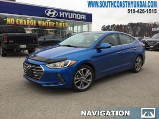 Used 2017 Hyundai Elantra Limited  - Navigation -  Sunroof - $125.64 B/W for sale in Simcoe, ON